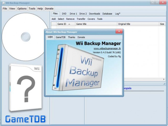 descargar wii backup manager espanol gratis